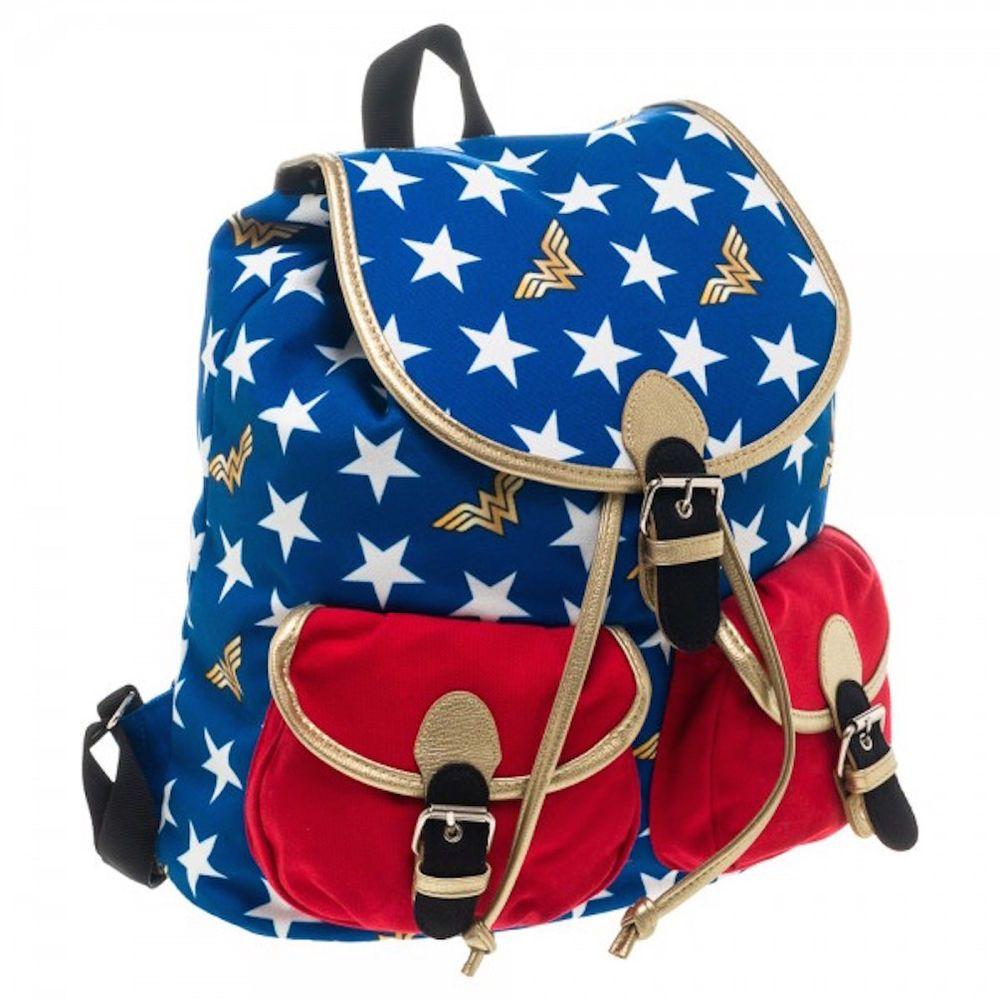 Dc Comics Wonder Woman Knapsack Back Pack Book Bag New Licensed Dccomics