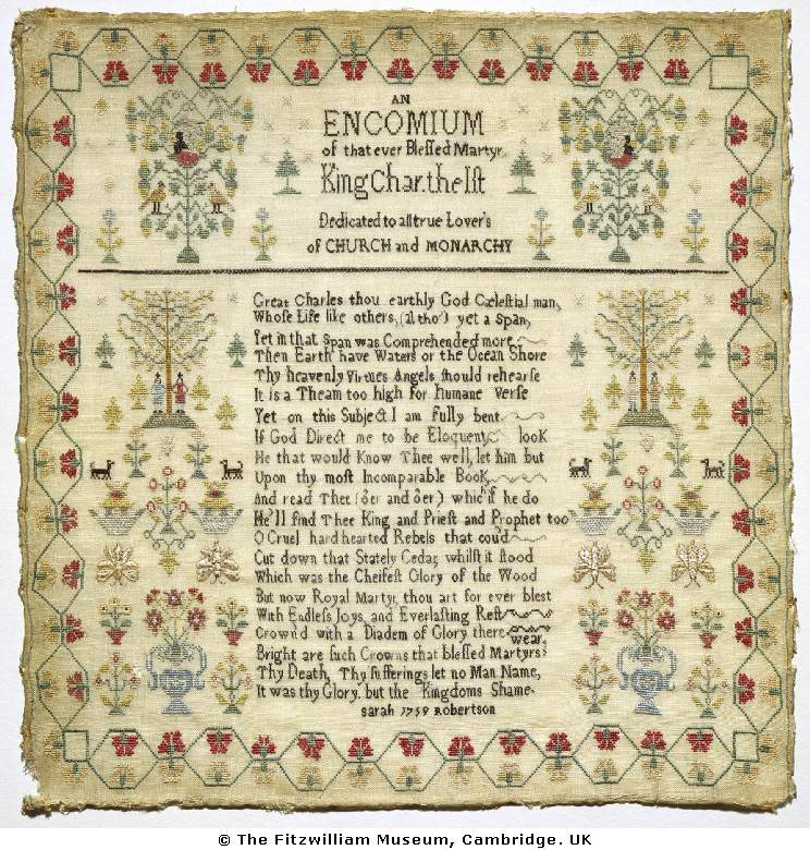 Sarah Robertson 1759 Samplers Pinterest Embroidery Sampler