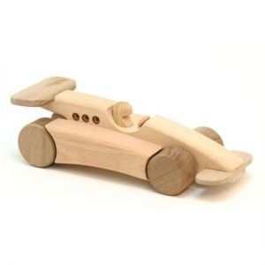 Wooden Formula One Racing Car Hubby Wooden Toys Wood
