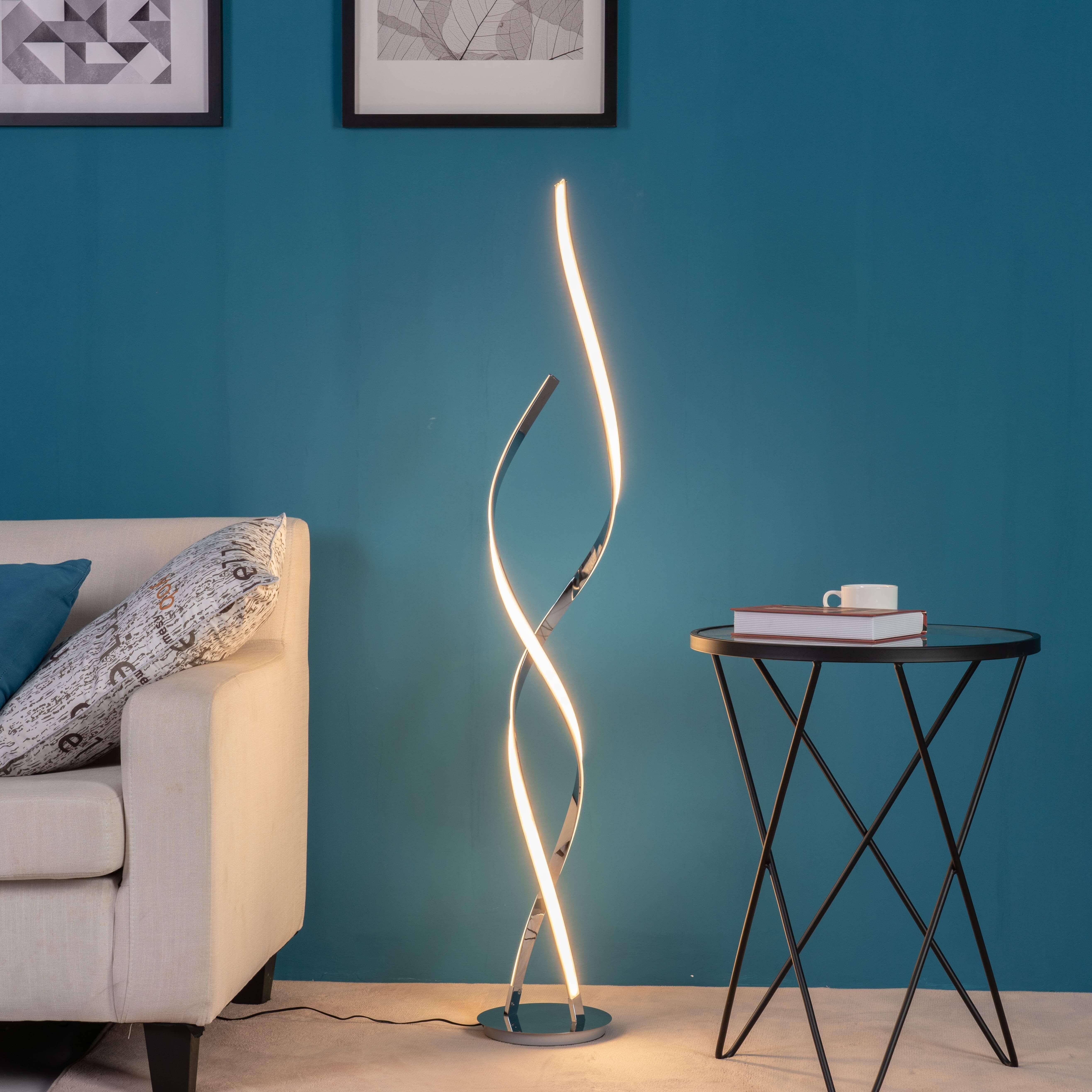 lampadaire led ultra design 24 w metal 126 cm cascada lampadaire led lampadaire design salon lampadaire