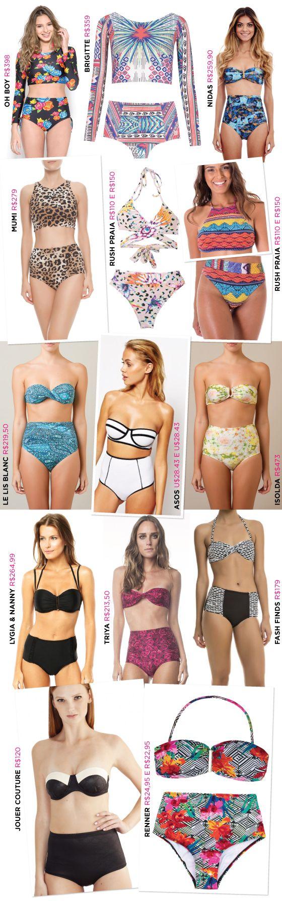 fbc3d0e2f biquini-cintura-alta-hot-pants-onde-comprar | Verão | Moda praia ...