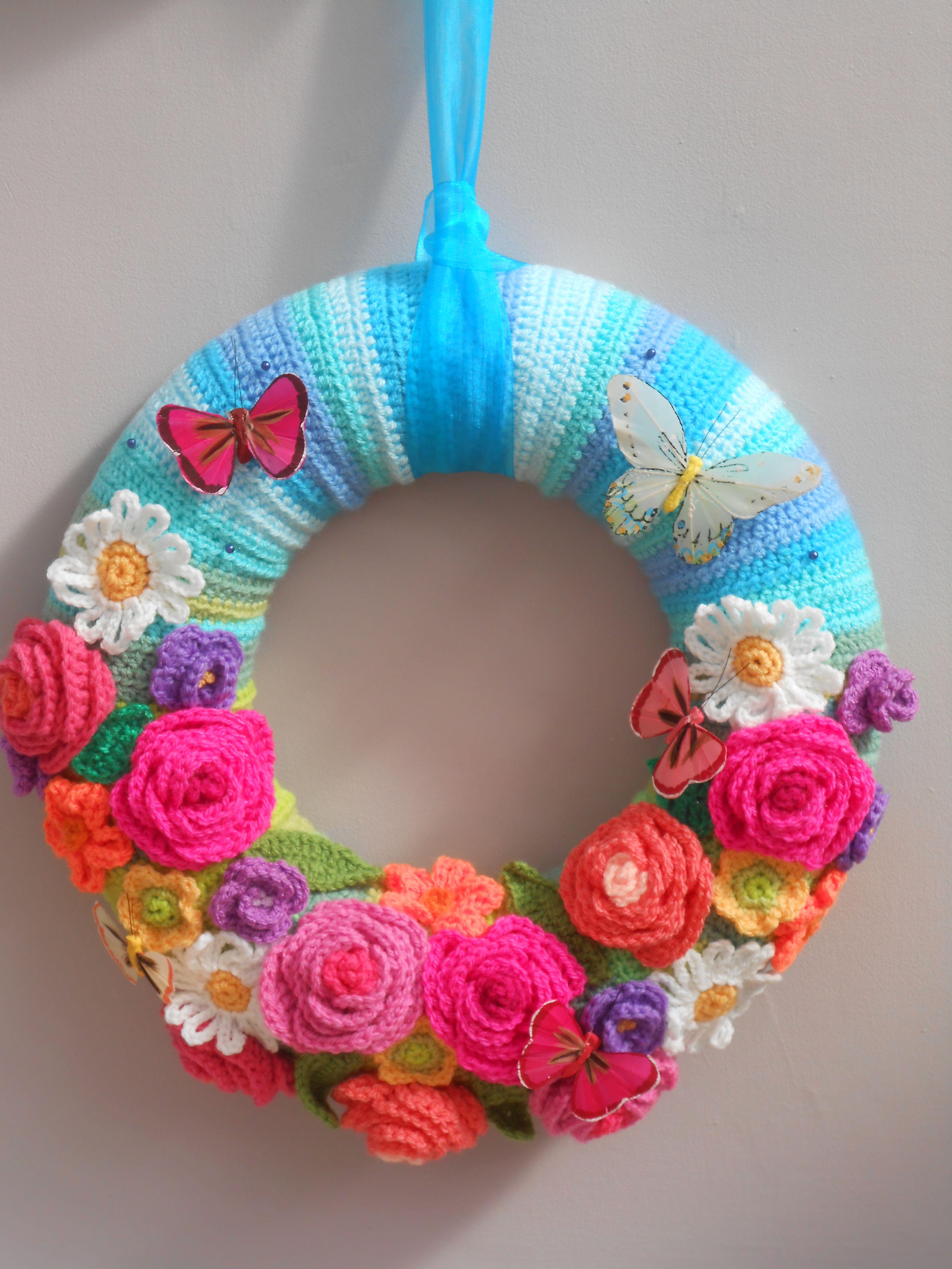 Pin de luz esperanza en crochet   Pinterest   Coronas, Las puertas y ...