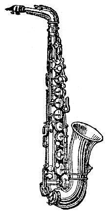 Brass Instruments Saxophone Desenhos Musica Saxofone Desenho