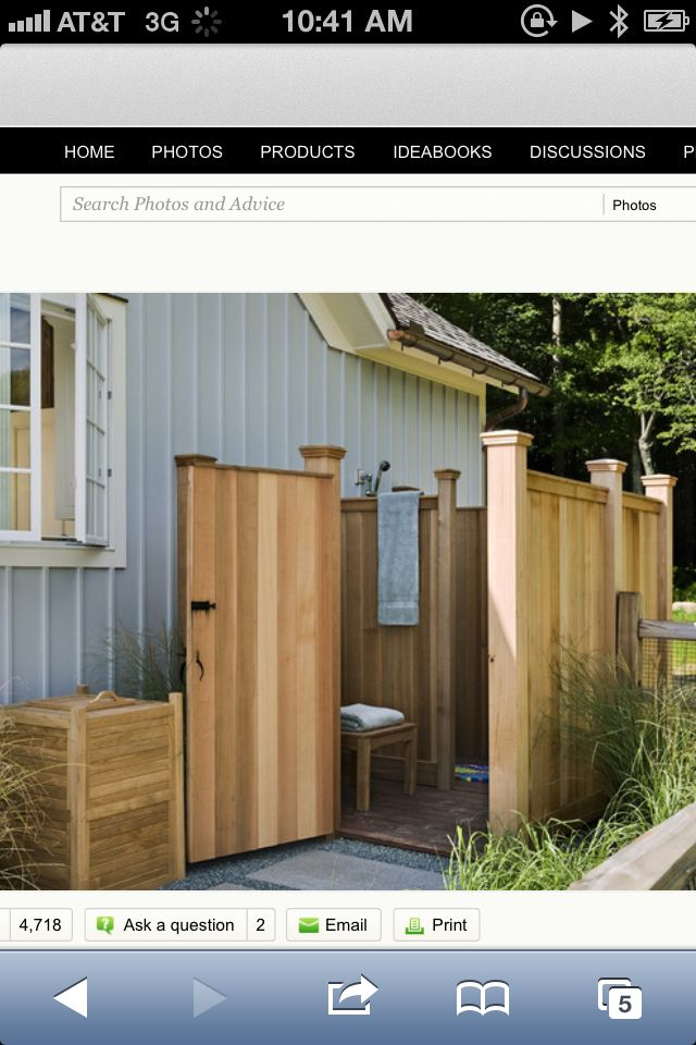 Our Outdoor Pool Bathroom Outdoor Shower Enclosure Outdoor