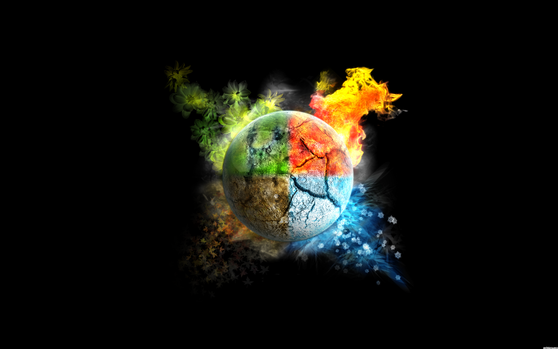 Air Element Earth Fire Wind Water Wallpaper Element Avatar