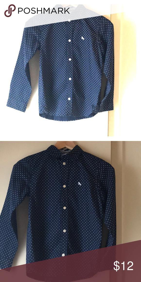 cf36bc7ff2c H M boys dress shirt 8-9years. Navy blue with small polka dots. H M Shirts    Tops Button Down Shirts