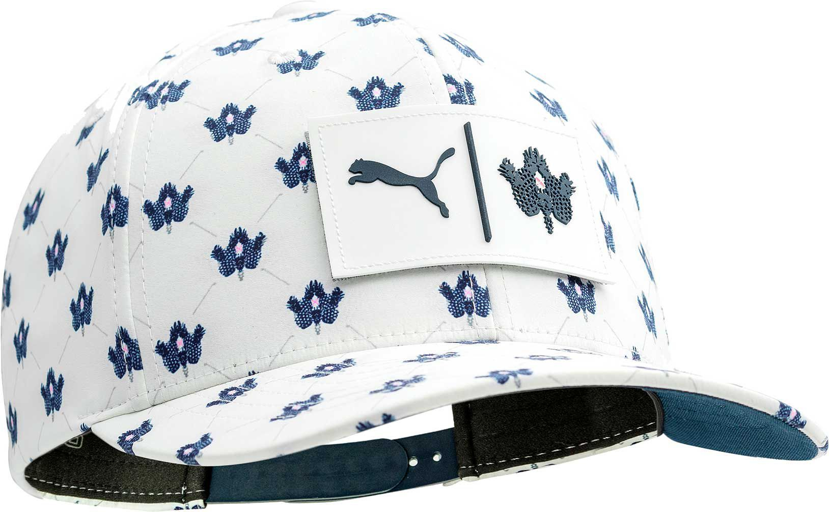 newest 77cb7 dc103 Puma Men s Limited Edition Pineapple Utility Patch 110 Snapback Golf Cap
