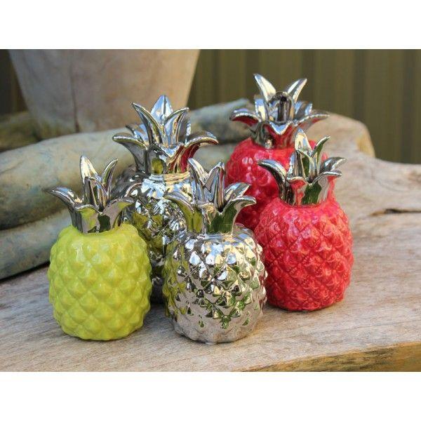 Red Ceramic Pineapple Medium The Chic Nest