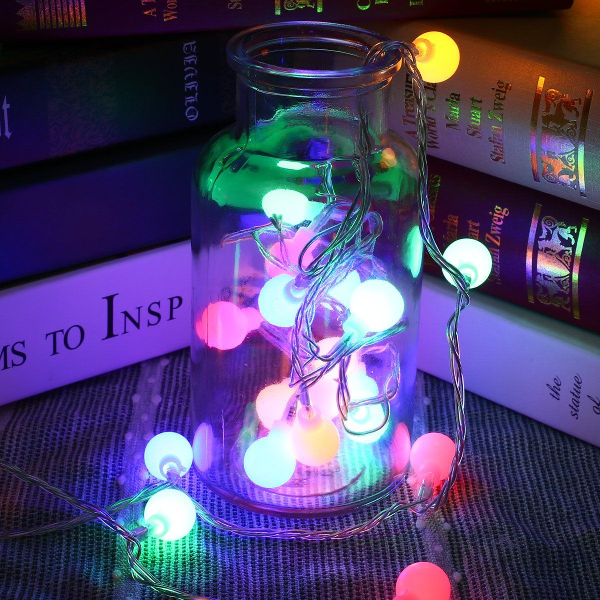 Le Led String Lights Battery Ed 16 4ft 50 Colored Globe 8 Modes Lighting With Timer Fairy Light Bulb For Garden Patio Party Wedding