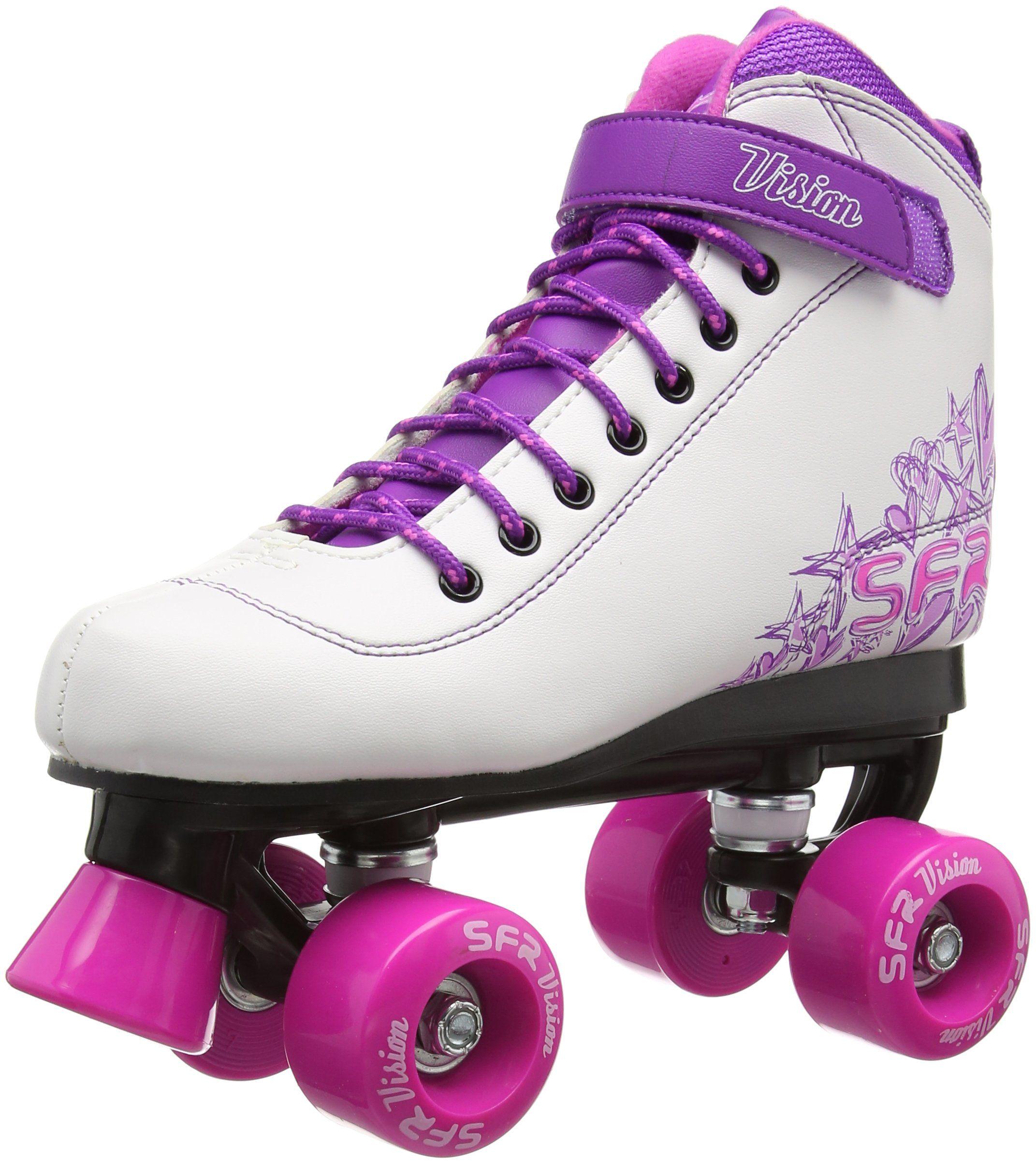 Zebra roller skates - Sfr Vision Ii Pink Kids Quad Roller Skates Uk 5