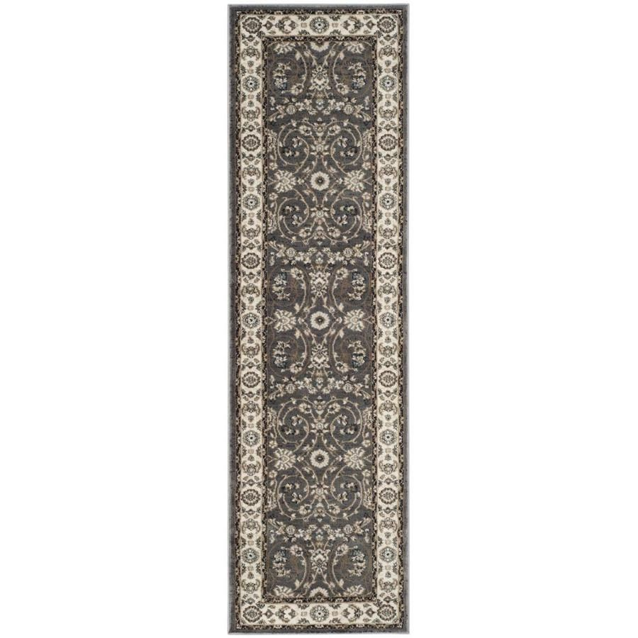 Safavieh Lyndhurst Tabaz Gray Cream Rectangular Indoor Machine Made Oriental Runner Common 2 X 1 In 2020 Floral Accent Rug Traditional Area Rugs Rug Runner