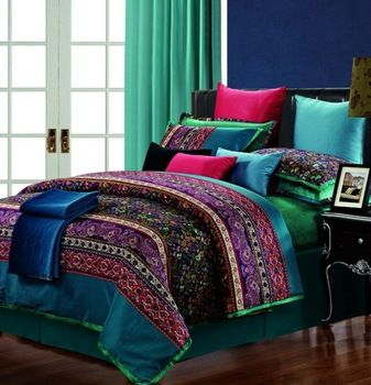 garnet aqua pattern boho bed blue comforter multi pinterest full exotic images style sets red color size bedding queen whatyourinto indian and print best on stripe vintage