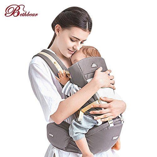 OUTLIFE Porte Bébé Ventraux Ergonomique 4 en 1 Multiples Positions  Multi-fonctions Mains Libres Ajustable Sac à Dos pour Bébé nouvelles nés et  petits ... abd11e3b61e