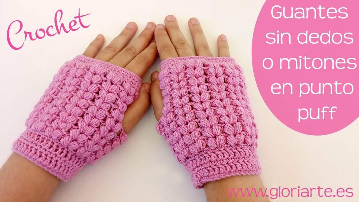 7266a3db81c Protege tus manos este invierno con unos mitones de ganchillo ...