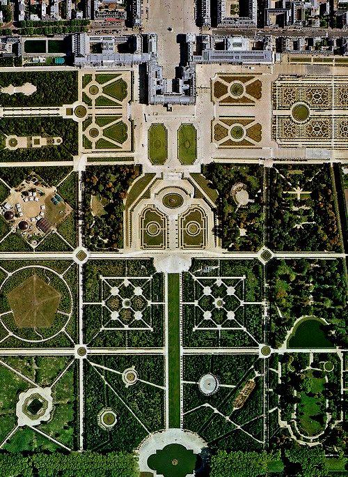 Die Garten Von Versailles Von Oben Betrachtet Versailles Romantische Garten Parks