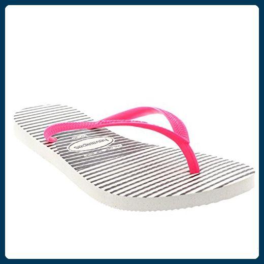 Damen Havaianas Slim Graphic Flache Urlaub Flip Flop Sommer