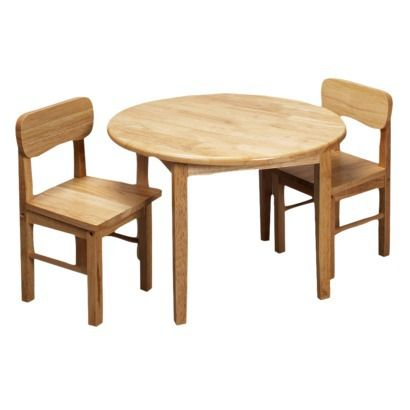 Round Table Two Chair Set Nat Round Table And Chairs Toddler Table Round Kids Table