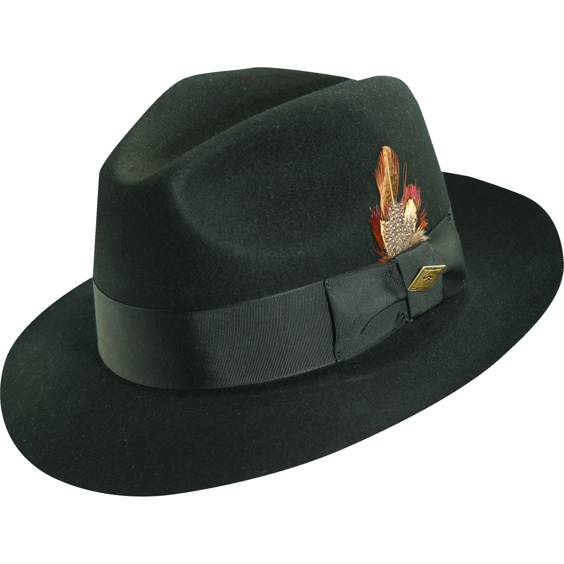 3062d22afa94e Stacy Adams Cannery Row Wool Fedora Hat (Black