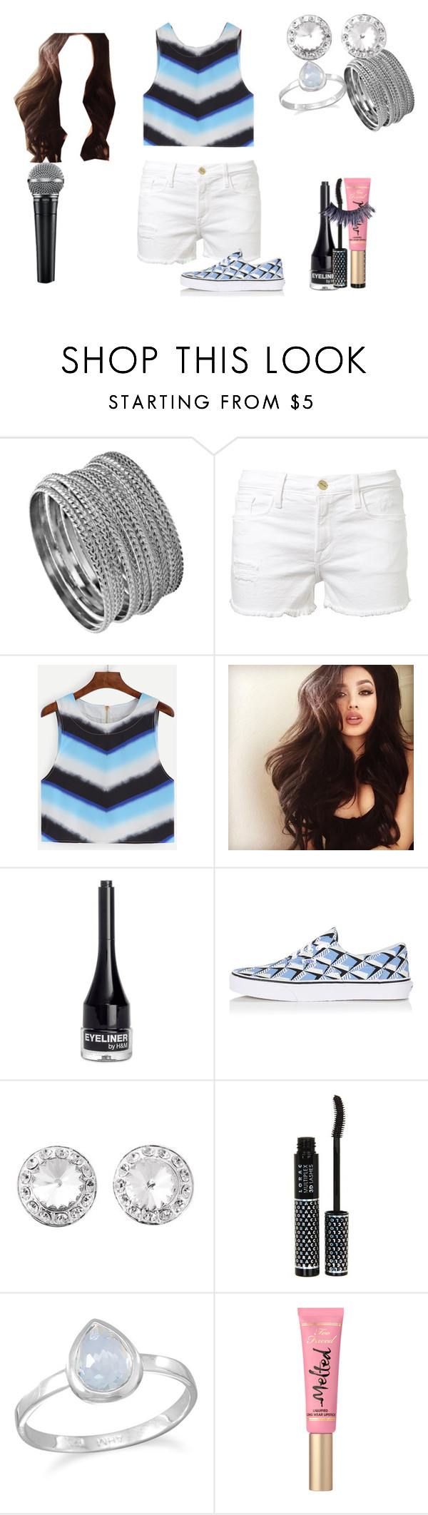 """Hana C. At K Con"" by shestheman01 ❤ liked on Polyvore featuring Blu Bijoux, Frame Denim, H&M, Vans, LORAC, BillyTheTree and Manic Panic NYC"