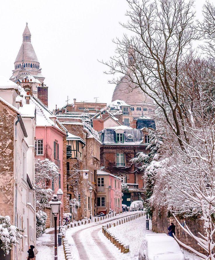 Paris Montmartre Photo By Bakemetoparis Travel Winter Scenery Paris Winter Scenes