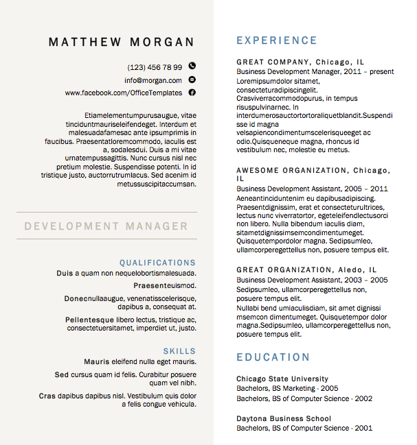 free resume download creative formal