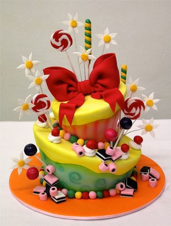 CAKE ART - Topsy Turvy Candy Cake - all hand sculpted and entirely edible.