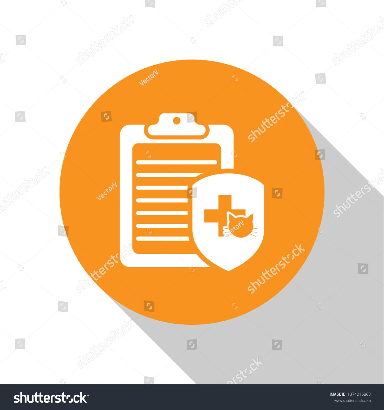 White Clipboard With Medical Clinical Record Pet Icon Isolated On