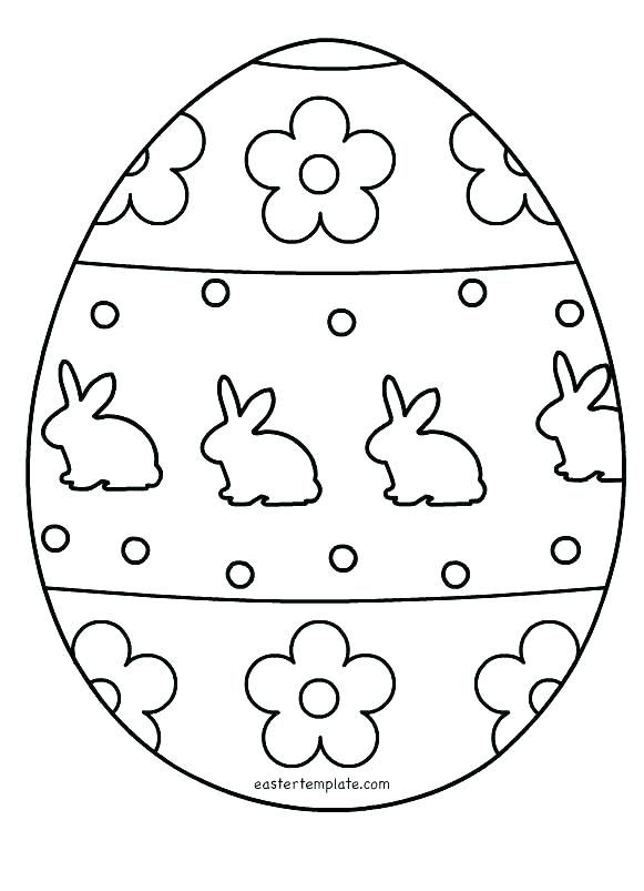 Egg Template Free Printable Coloring Pages Patterns Color 3