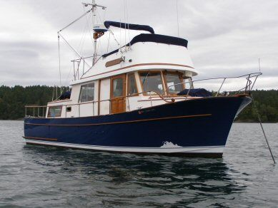 Our 34 foot tri-cabin CHB trawler, Heron gina and lowells