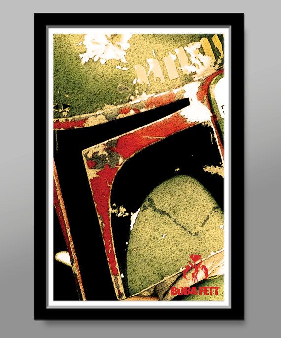 Boba Fett, up close and personal from BIGtime... Dirty, sketchy and downright badazz... but enough about the poster - lets talk about Boba Fett.