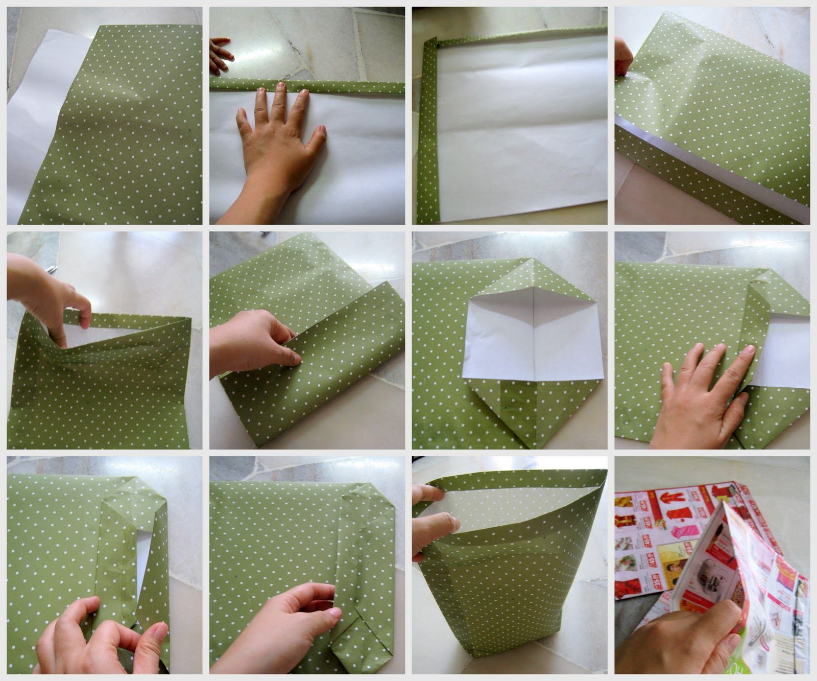 Teh Tarik Junction: How to make a paper bag | Crafts / DIY | Pinterest