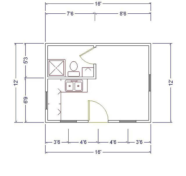 12 x 16 cabin 12x16 cabin floor plans the georgia for Cabin addition floor plans