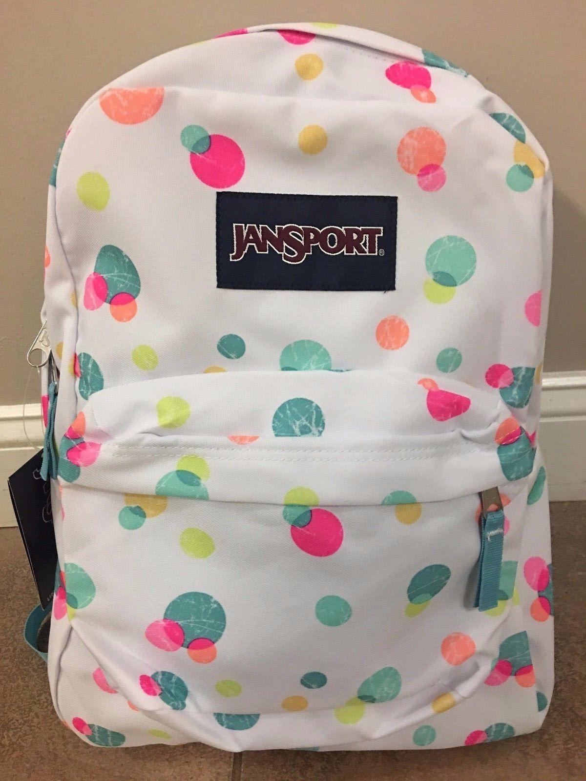 Backpacks 57917: Jansport Backpack School Bag Pink Pansy Confetti ...