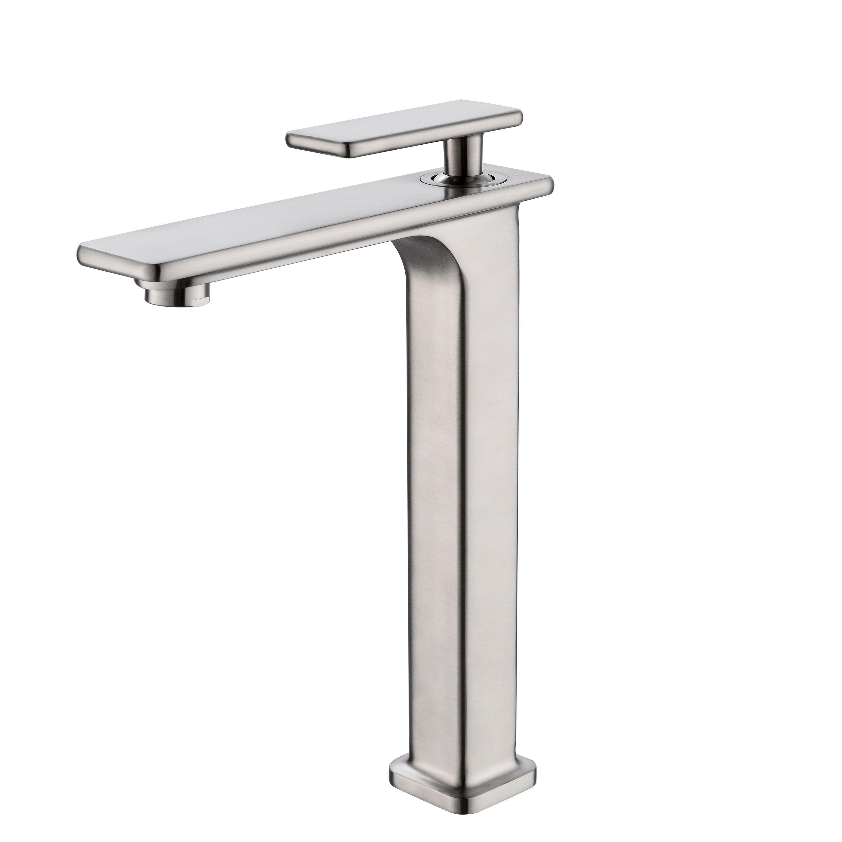 Vanity Art 12 Bathroom Vessel Sink Faucet Single Handle Single
