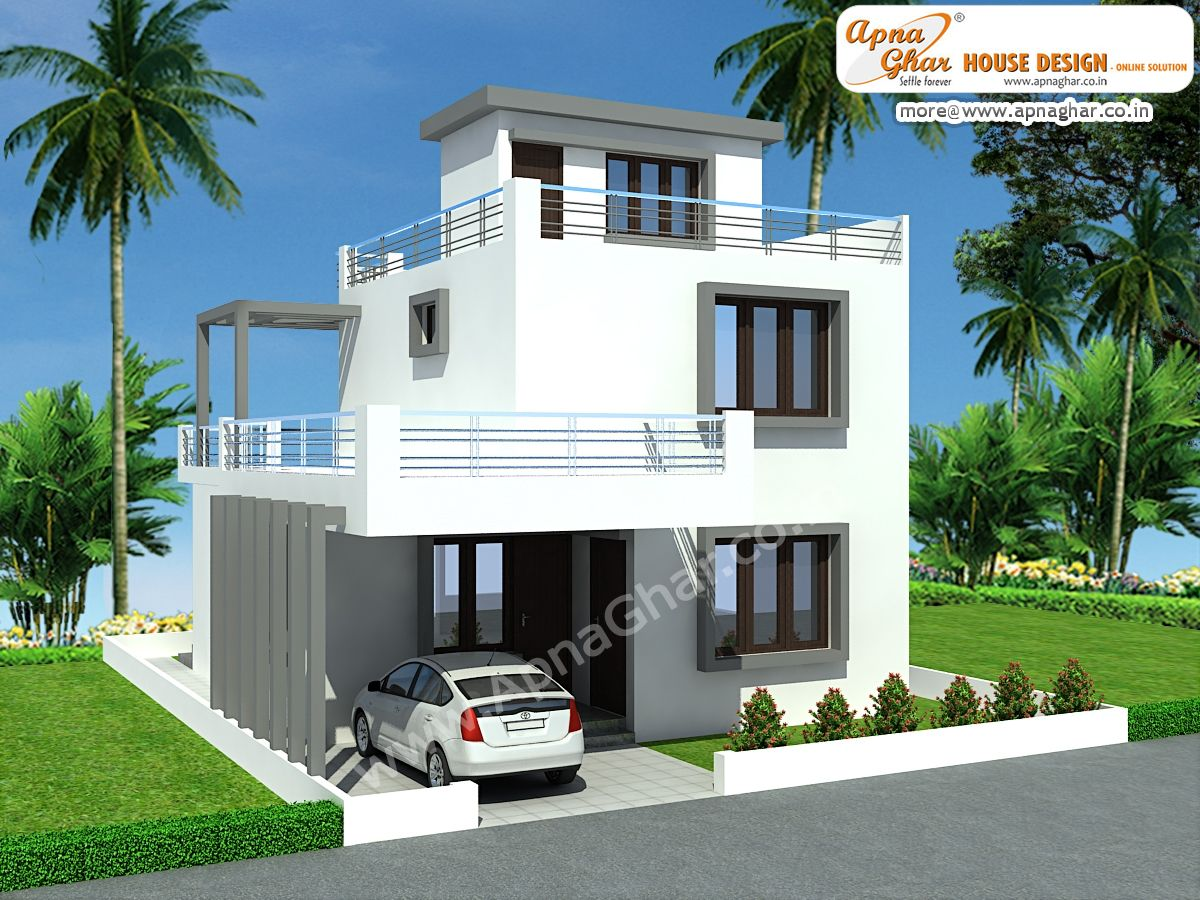 Modern duplex house design in 126m2 9m x 14m to get for plan - Duplex home elevation design photos ...