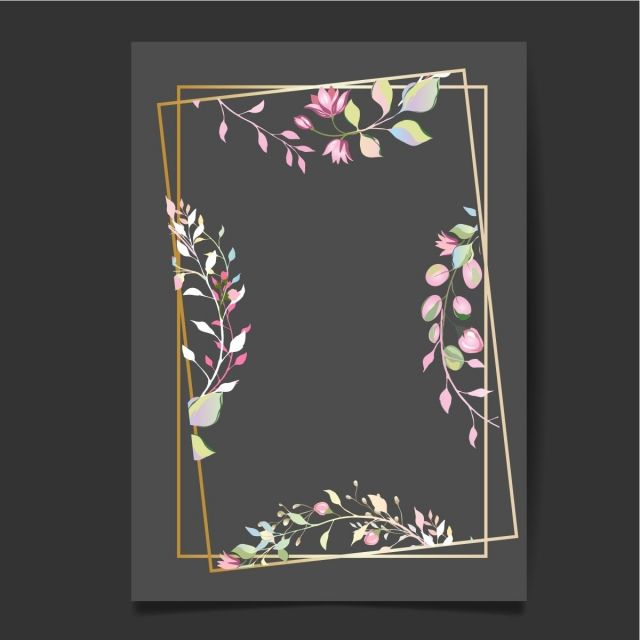 Gambar Botani Kad Dengan Bunga Liar Menjemput Vektor Atur Hiasan Kartu Ucapan Atau Bentuk Jemputan Latar Belakang Daun Spring Perhiasan Konsep Bunga Poster Sen Ilustrasi Daun Seni Gambar Botani