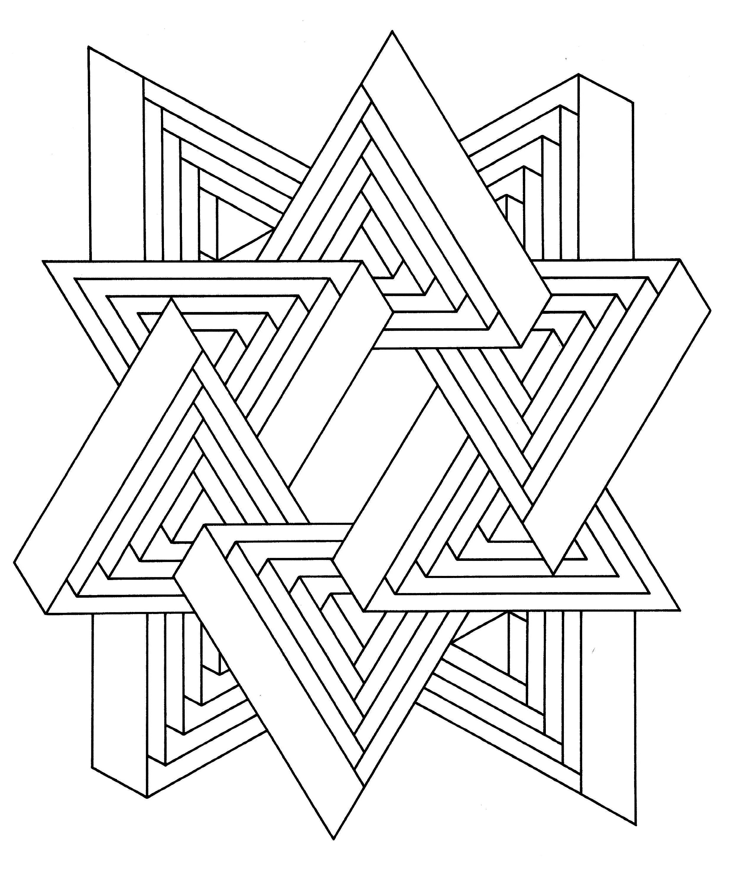 Jewish mandala coloring pages - To Print This Free Coloring Page Coloring Op Art Jean Larcher