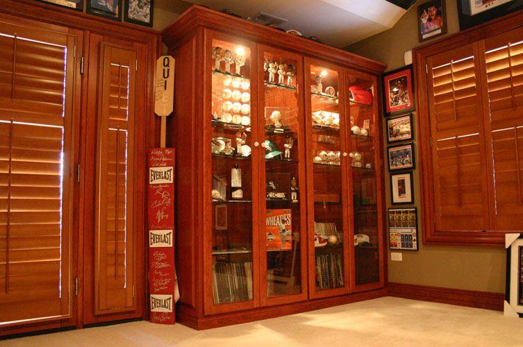 Unique Sports Memorabilia Display Cabinet