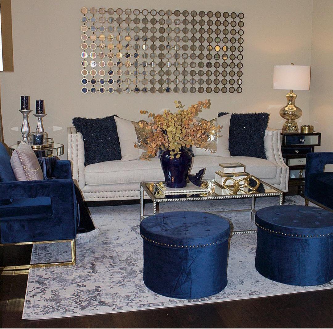 Blue decor  Déco maison, Decor salon maison, Deco salon marocain