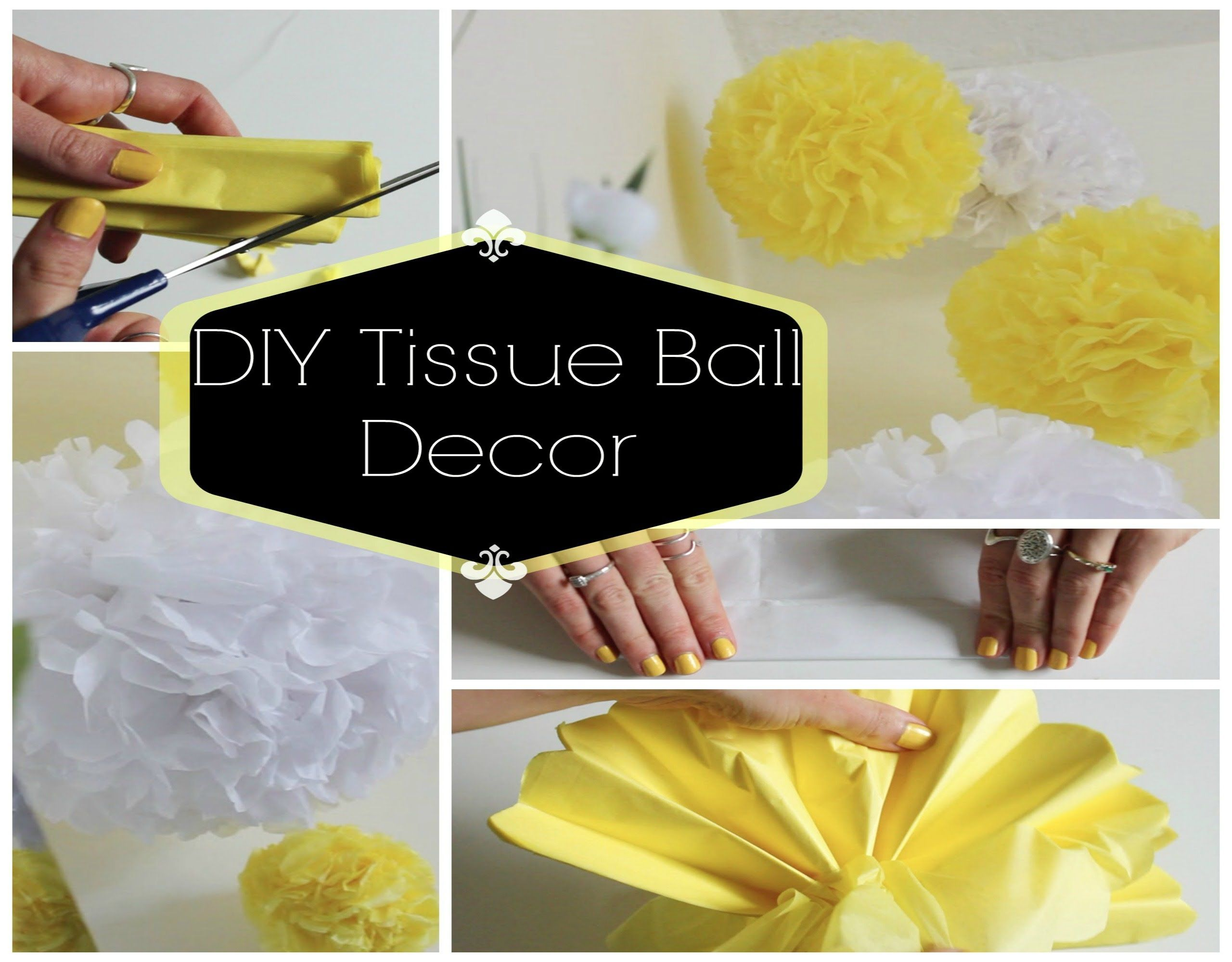 How To Make Paper Balls For Decoration Diy Room Decor  Easy Tissue Paper Ballso Cute  Share Your
