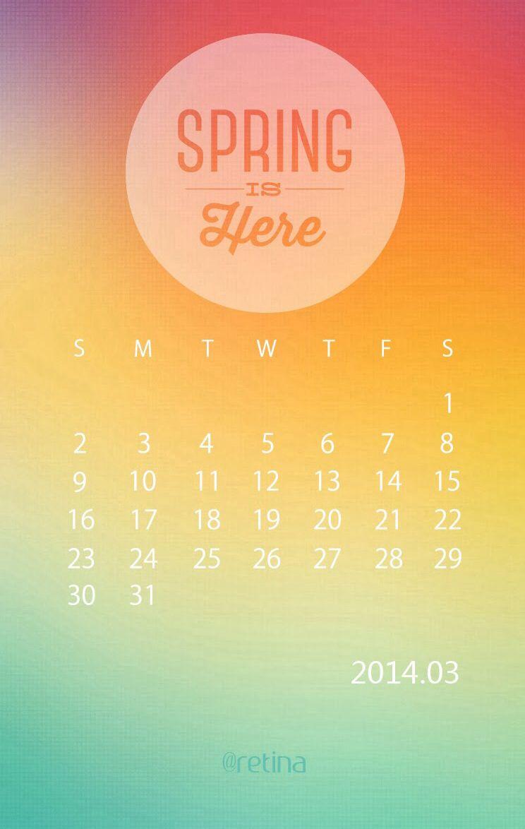 Orange March Calendar