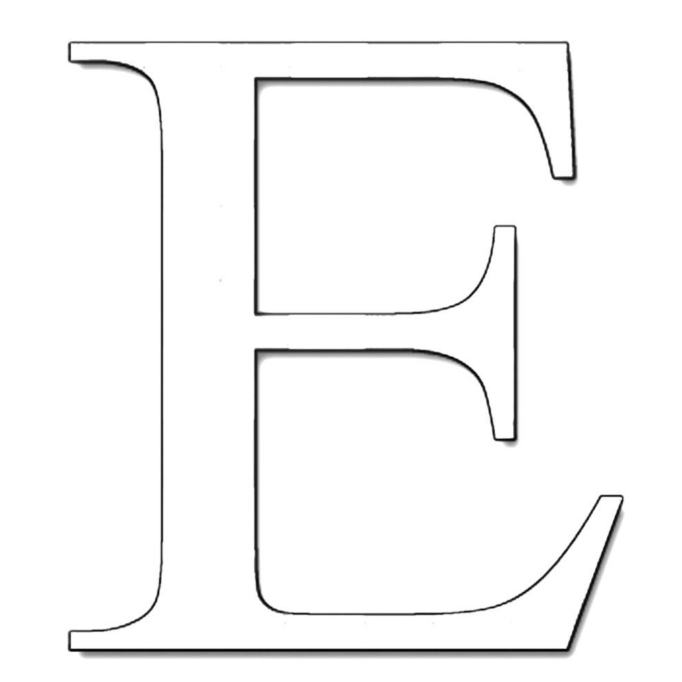 Lettera E Da Colorare Stampa Disegno Di Lettera E Da Colorare