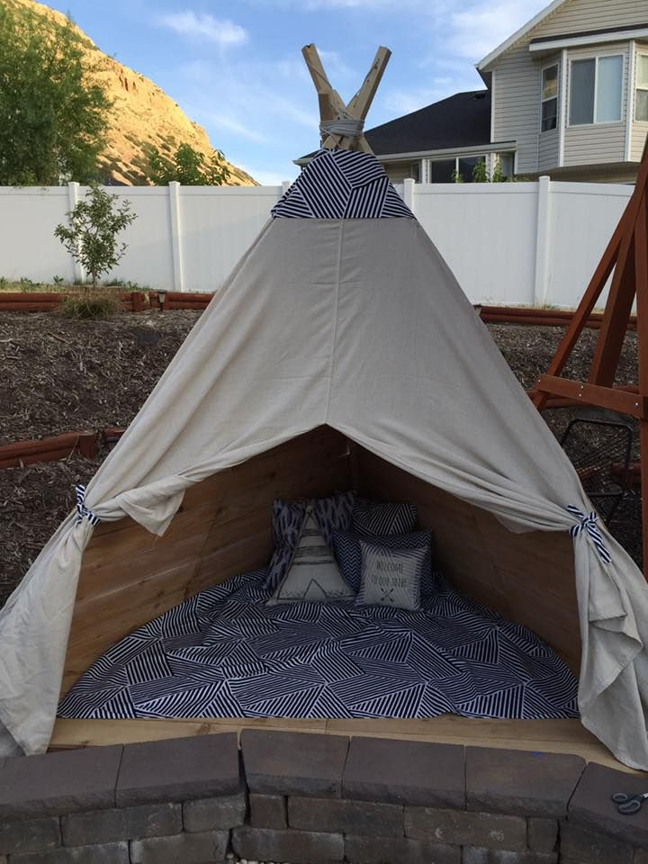 Build An Outdoor Teepee In A Day For About 150 Teepee Outdoor