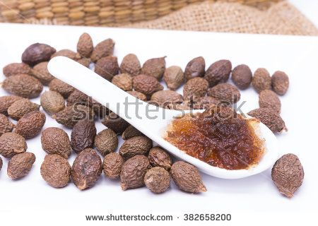 Sterculia lychnophora seed(gum) soaked in water is water soluble dietary fiber or Water soluble polysaccharide - stock photo