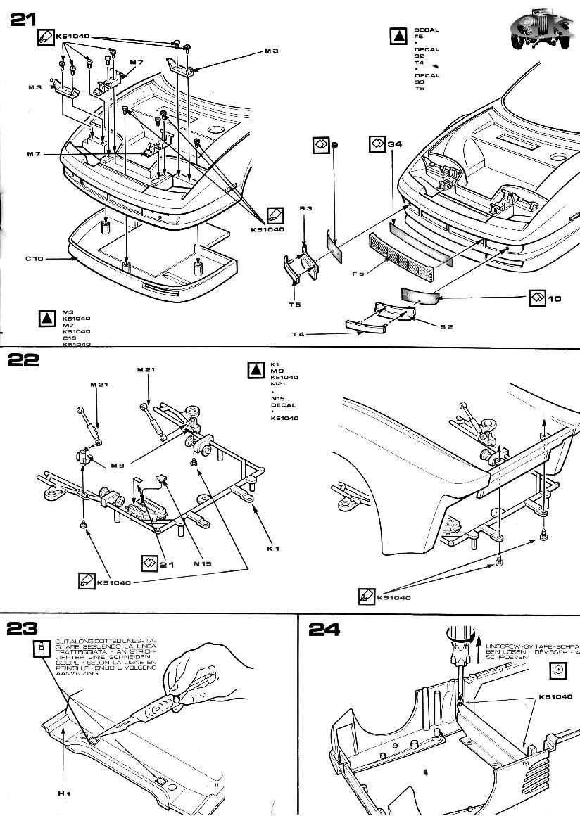 Instructions Pocher K52: Ferrari Testarossa Spider
