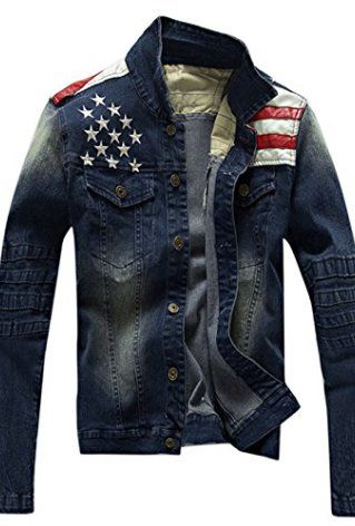45df9b8fd37 ... Mens Jean Jackets Plus Size - 1 fashion garment suppliers. American  Flag Jean Jacket. Classic   Sexy