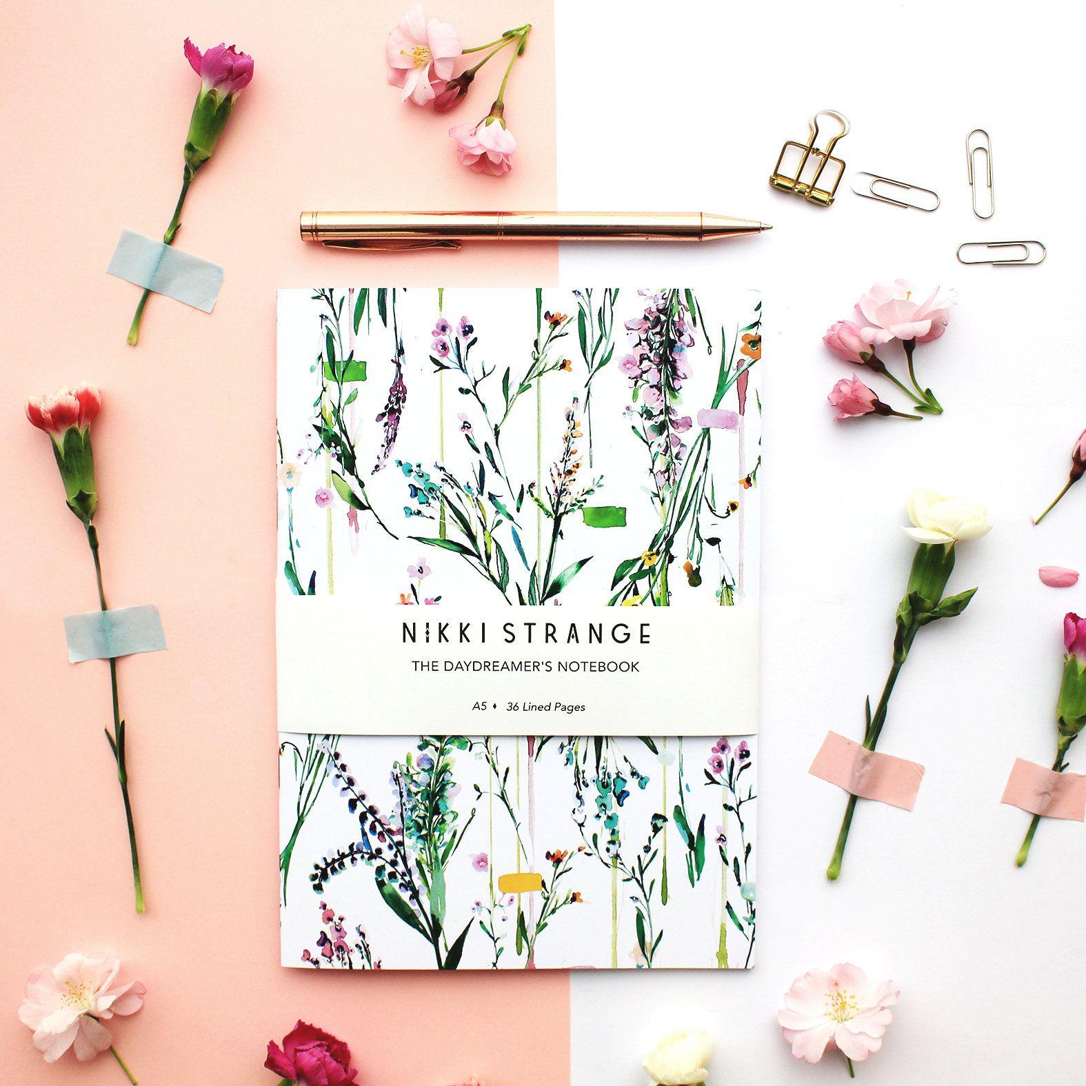Nikkistrange Flower Notebook Handmade Notebook Botanical Notebook