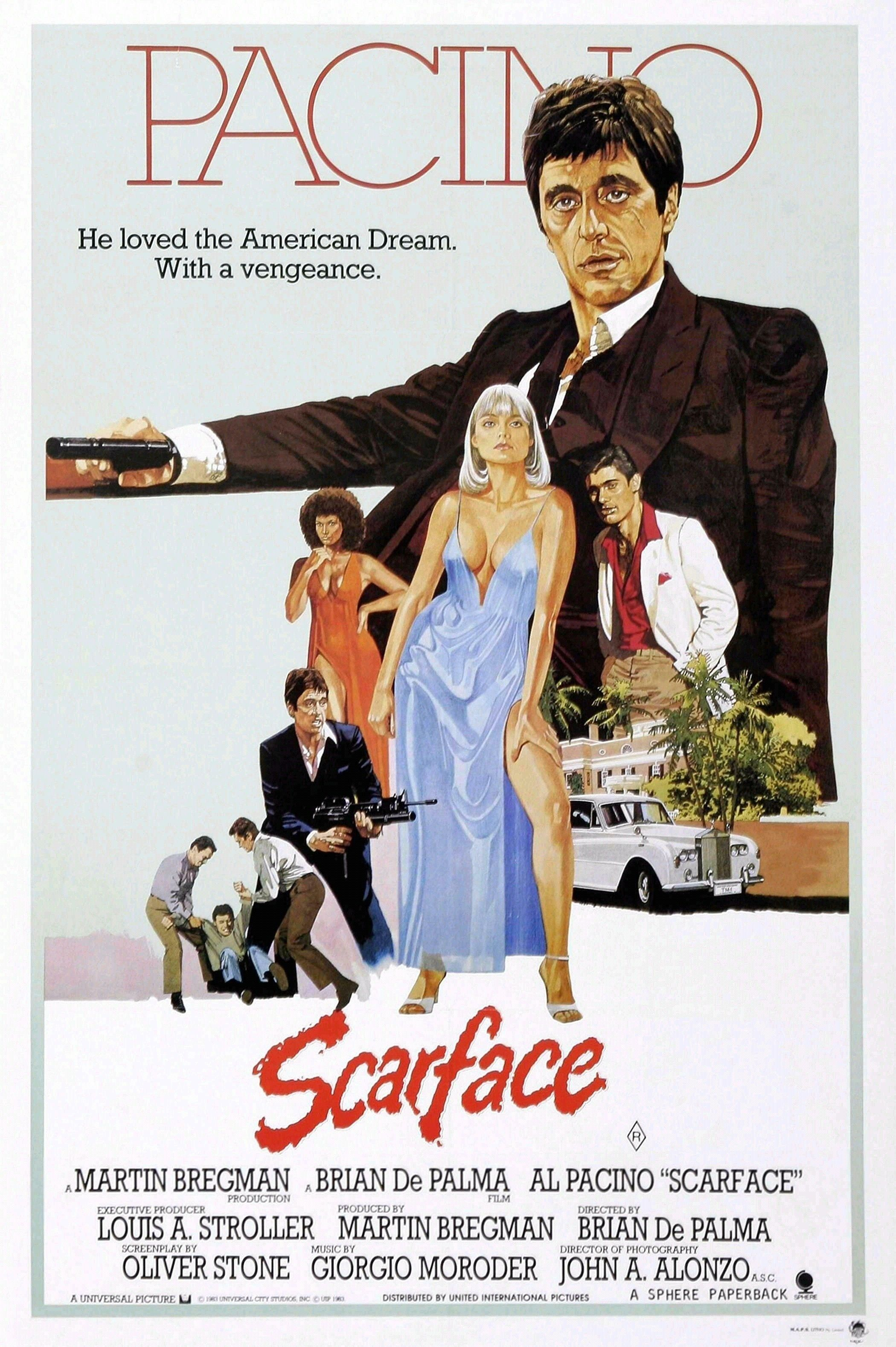 Scarface  9  Poster Greatest Movies Classic /& Vintage Films