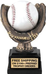 This Popular #Baseball Glove #Trophy Can Hold The Winning Baseball and Given To The Most Valuable Player. http://www.crownawards.com/StoreFront/CRSBBBG.ALL.Trophies.Baseball_Holder_Trophy.prod