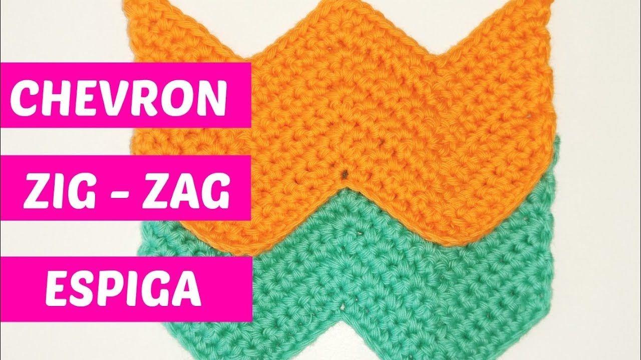 Punto chevron crochet trabajado con medio punto N°1 | Handwork Diy ...